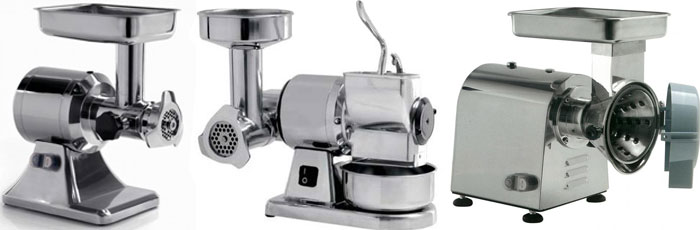 meat grinder, bread crumber, cheese cutter